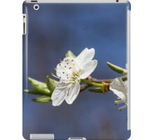white flowers in spring iPad Case/Skin