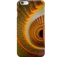 Golden spiral staircase iPhone Case/Skin