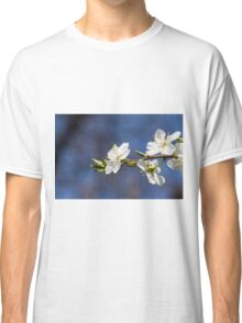 white flowers in spring Classic T-Shirt