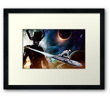 Sliver Surfer Framed Print