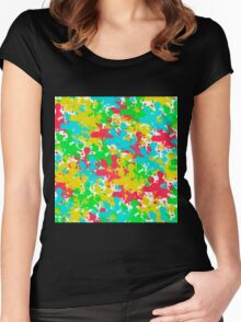 Abstract 107 Women's Fitted Scoop T-Shirt