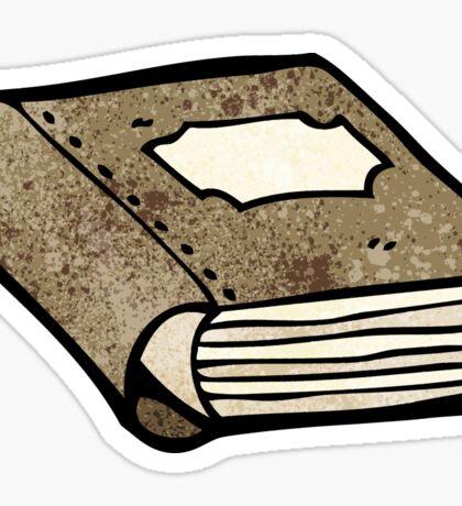 old book cartoon Sticker
