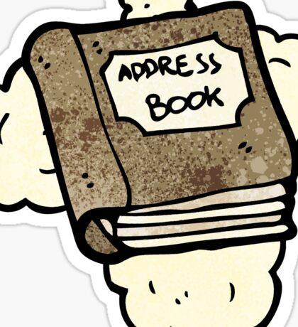 cartoon address book Sticker
