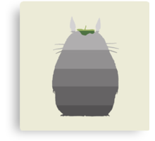 Leaf it to Totoro Canvas Print