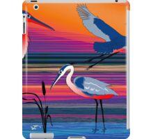 3 Red Herons iPad Case/Skin