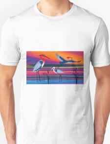 3 Red Herons T-Shirt
