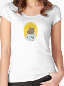 Bear sailor Women's Fitted Scoop T-Shirt
