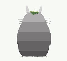 Leaf it to Totoro (linen white) by CanisPicta