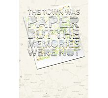 The Town Was Paper Photographic Print