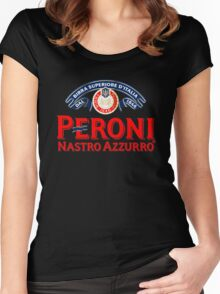 PERONI BEER NASTRO AZZURRO ITALIAN Women's Fitted Scoop T-Shirt