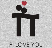 Pi Love You Black One Piece - Long Sleeve