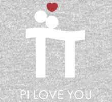 Pi Love You White Kids Clothes