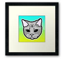 Satanic Cat  Framed Print