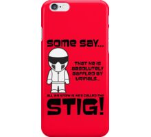 The Stig - Baffled by urinals iPhone Case/Skin