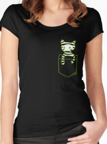 Pocketbuddy3 Women's Fitted Scoop T-Shirt