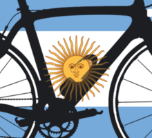 Bike Flag Argentina (Big - Highlight) Sticker
