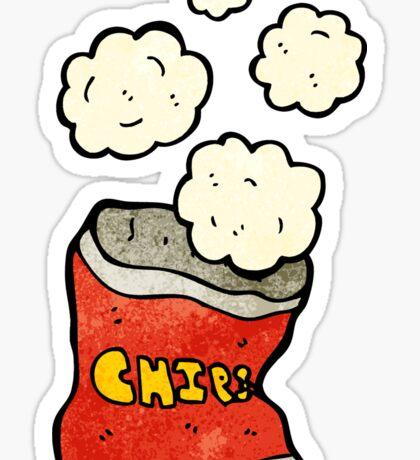 cartoon potato chips Sticker