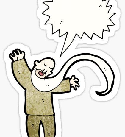 cartoon shouting old man Sticker