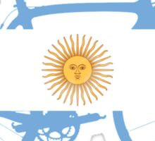 Bike Flag Argentina (Big) Sticker
