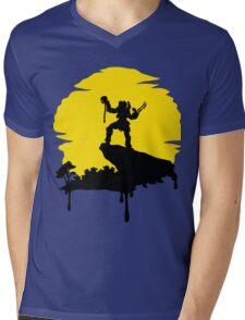 Predator Sun Mens V-Neck T-Shirt