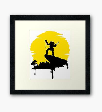 Predator Sun Framed Print