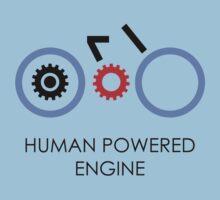 Human Powered Engine Black Kids Clothes