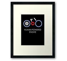 Human Powered Engine White Framed Print