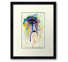 Watercolor Eye with splashing effect Framed Print