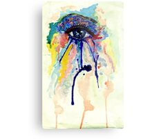 Watercolor Eye with splashing effect Metal Print