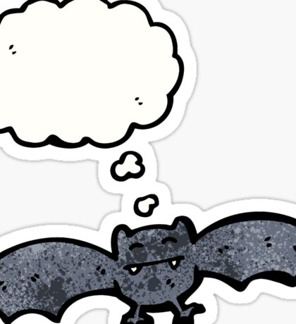 halloween bat with thought bubble Sticker