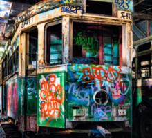 tram shed Sticker