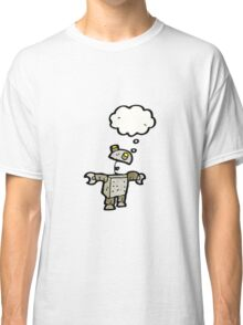 cartoon robot with thought bubble Classic T-Shirt