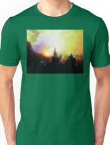 Sunrise In The Forest Unisex T-Shirt