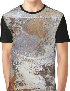 decay rust metal burnt car marble texture pattern Graphic T-Shirt
