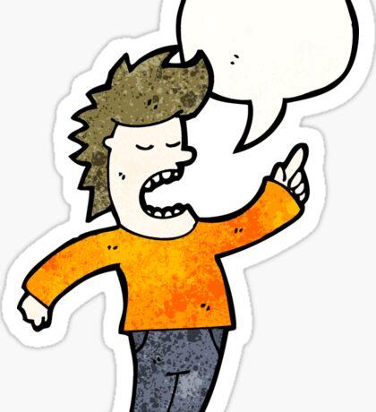 cartoon talking man Sticker