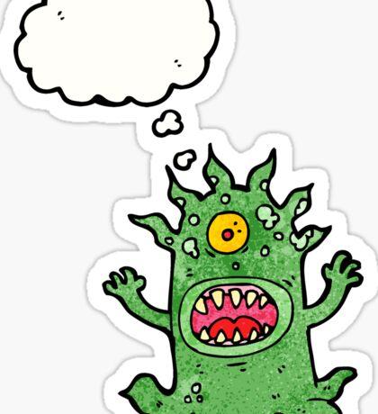 cartoon monster Sticker