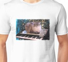 Cat On Synthesizer In Space Unisex T-Shirt