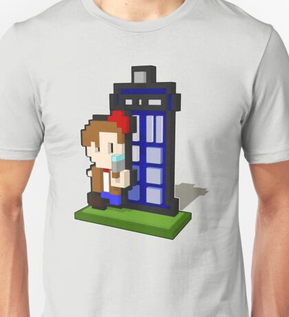 3D PIXEL - DOCTOR WHO (MATT SMITH) Unisex T-Shirt