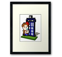 3D PIXEL - DOCTOR WHO (MATT SMITH) Framed Print