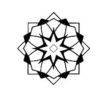 Mandala #218 || Mono by RedBookJournals