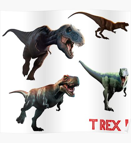 T Rexes - Various Poses Poster