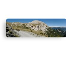BMW R75 on the road to the top of Monte Jafferau Canvas Print