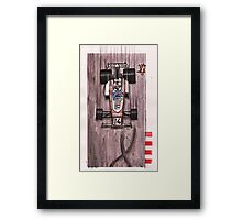 The grooming cat Framed Print