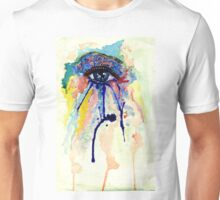 Watercolor Eye with splashing effect Unisex T-Shirt