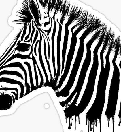 Zebra paint drip Sticker