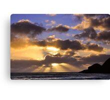 Praa Sands near Sunset Canvas Print