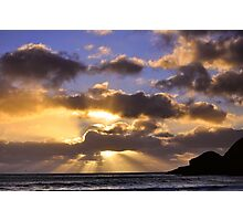 Praa Sands near Sunset Photographic Print