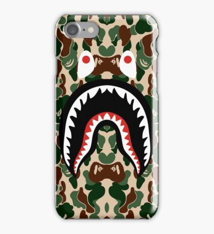 BAPE SHARK WOODLAND iPhone Case/Skin