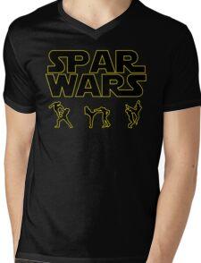 SPAR WARS TAEKWONDO MMA KARATE Mens V-Neck T-Shirt