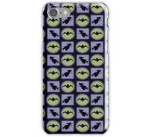 Bat and Witch Silhouettes Pattern  iPhone Case/Skin